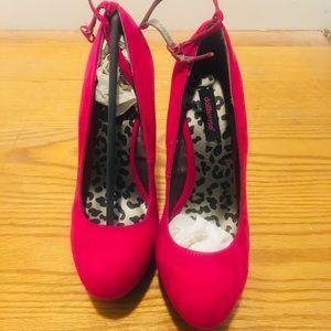 Pink Heel-less heels